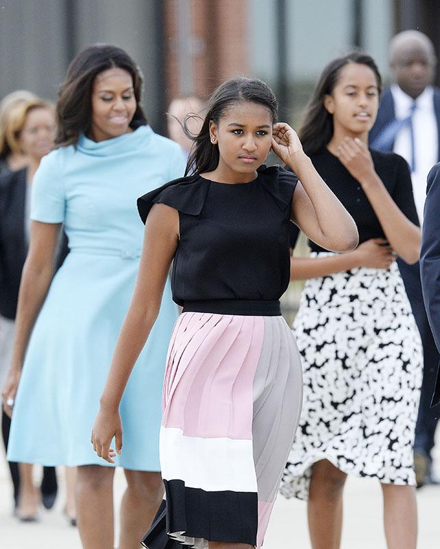 Michelle Obama y sus hijas Malia y Sasha