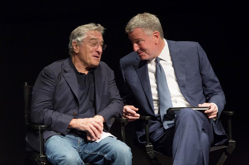 Bill de Blasio y Robert De Niro