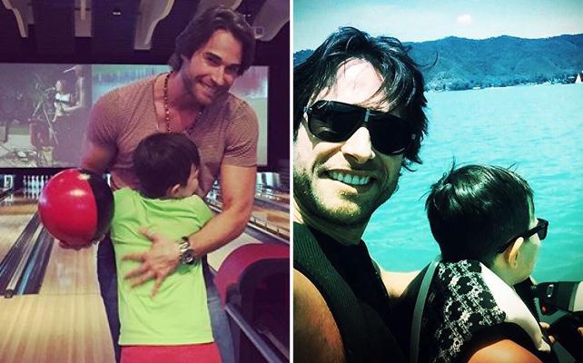 Sebastián Rulli y su hijo