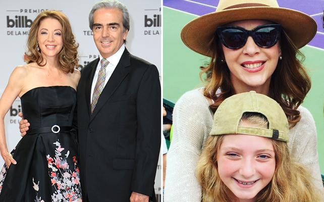 Edith González con su esposo, Lorenzo Lazo, e hija