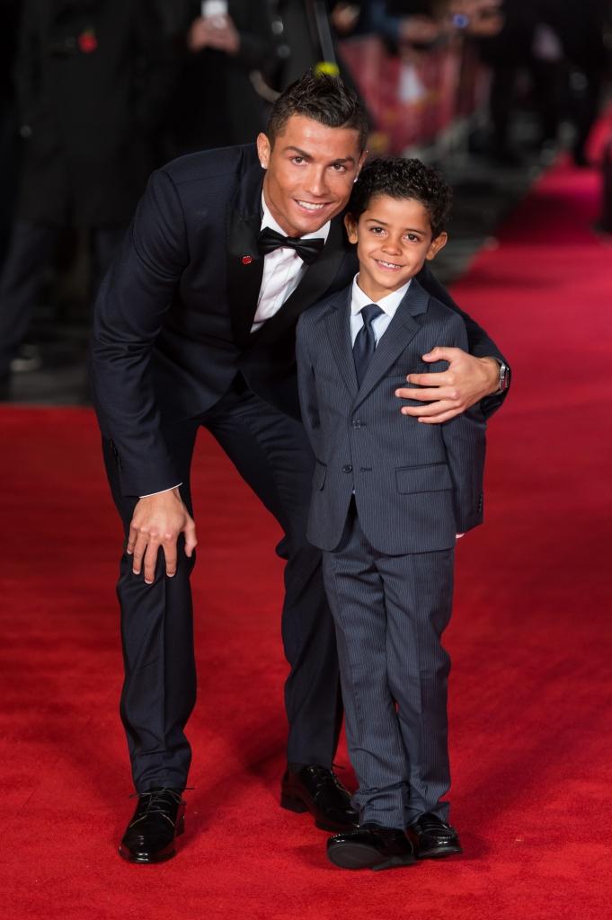 Cristiano Ronaldo y Cristiano Jr.