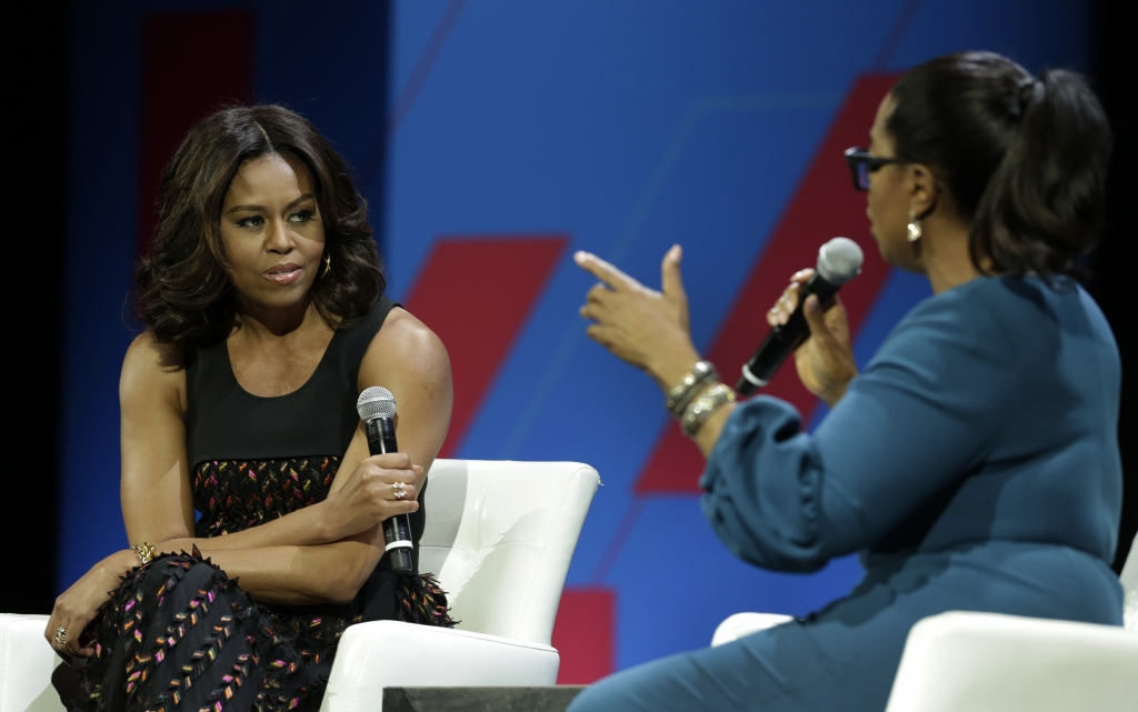 Michelle Obama y Oprah Winfrey