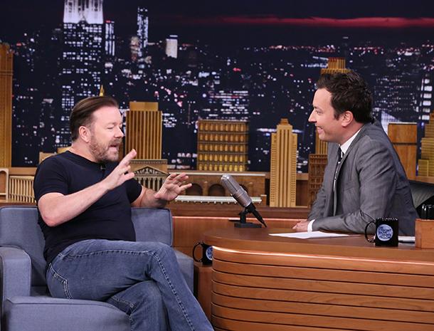 Ricky Gervais, Jimmy Fallon
