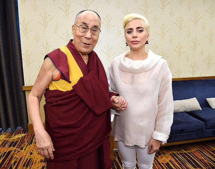 Lady Gaga, Dalái Lama
