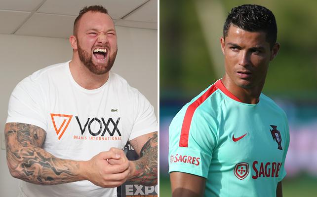 Hafþór Björnsson y Cristiano Ronaldo
