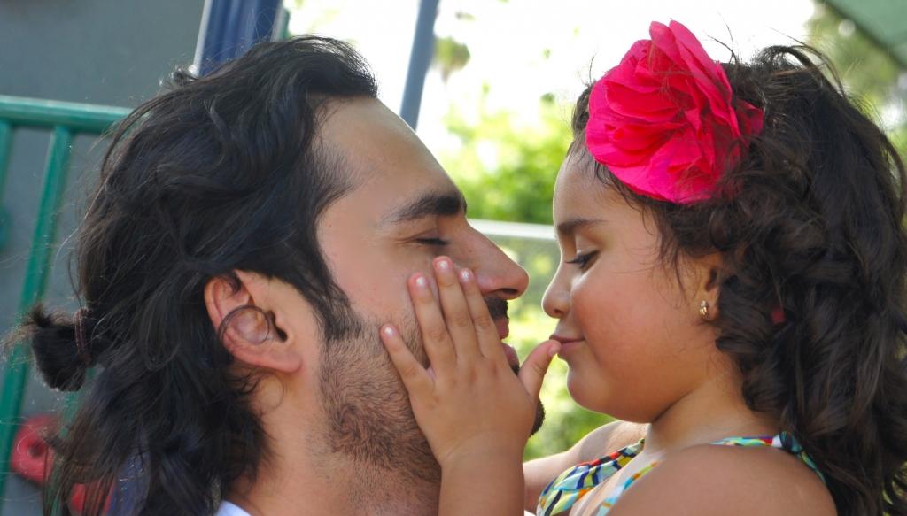 Fabian Ríos y su hija Lucía