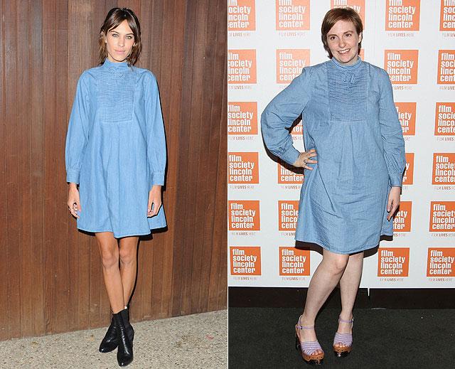 Dos mujeres un vestido alexa chung lena dunham