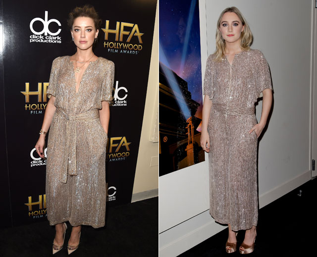 Dos mujeres un vestido, Saoirse Ronan, Amber Heard