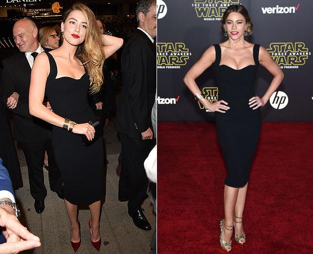Dos mujeres un vestido, Amber Heard, Sofía Vergara