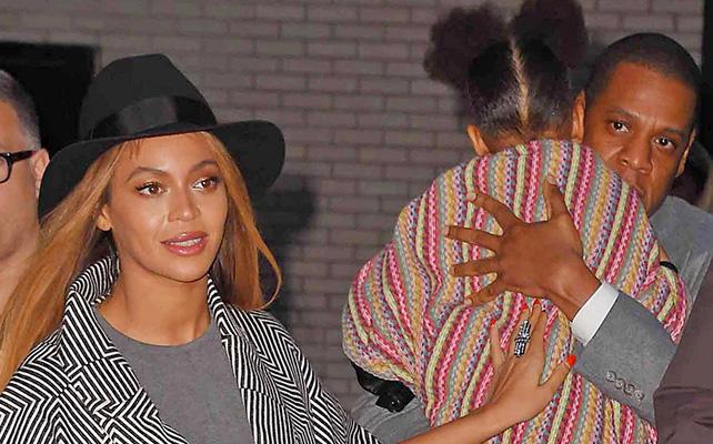Beyoncé Knowles, Jay-Z y Blue Ivy