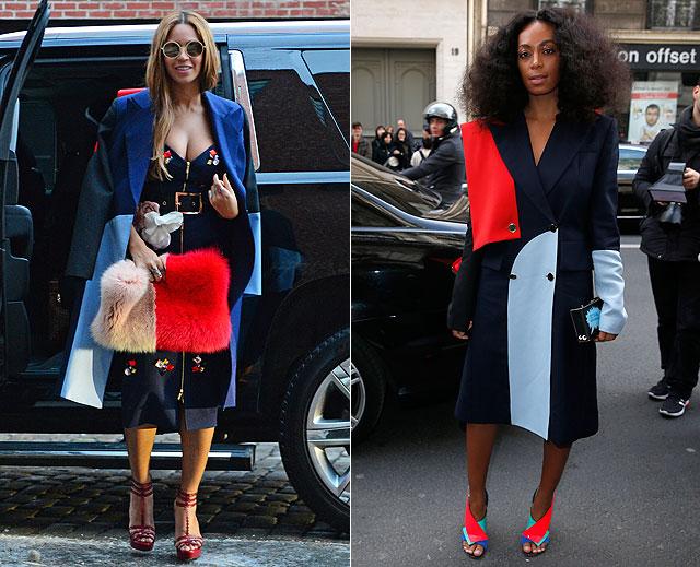 Dos mujeres un vestido beyoncé solange knowles