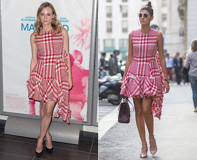 Dos mujeres un vestido, Diane Kruger, Giovanna Battaglia