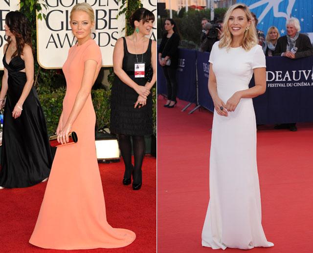 Dos mujeres un vestido, Emma Stone, Elizabeth Olsen
