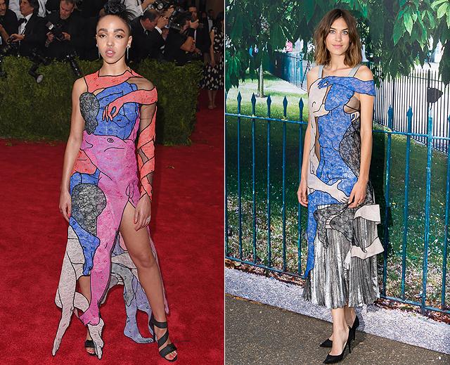 Dos mujeres, un vestido, FKA Twigs, Alexa Chung