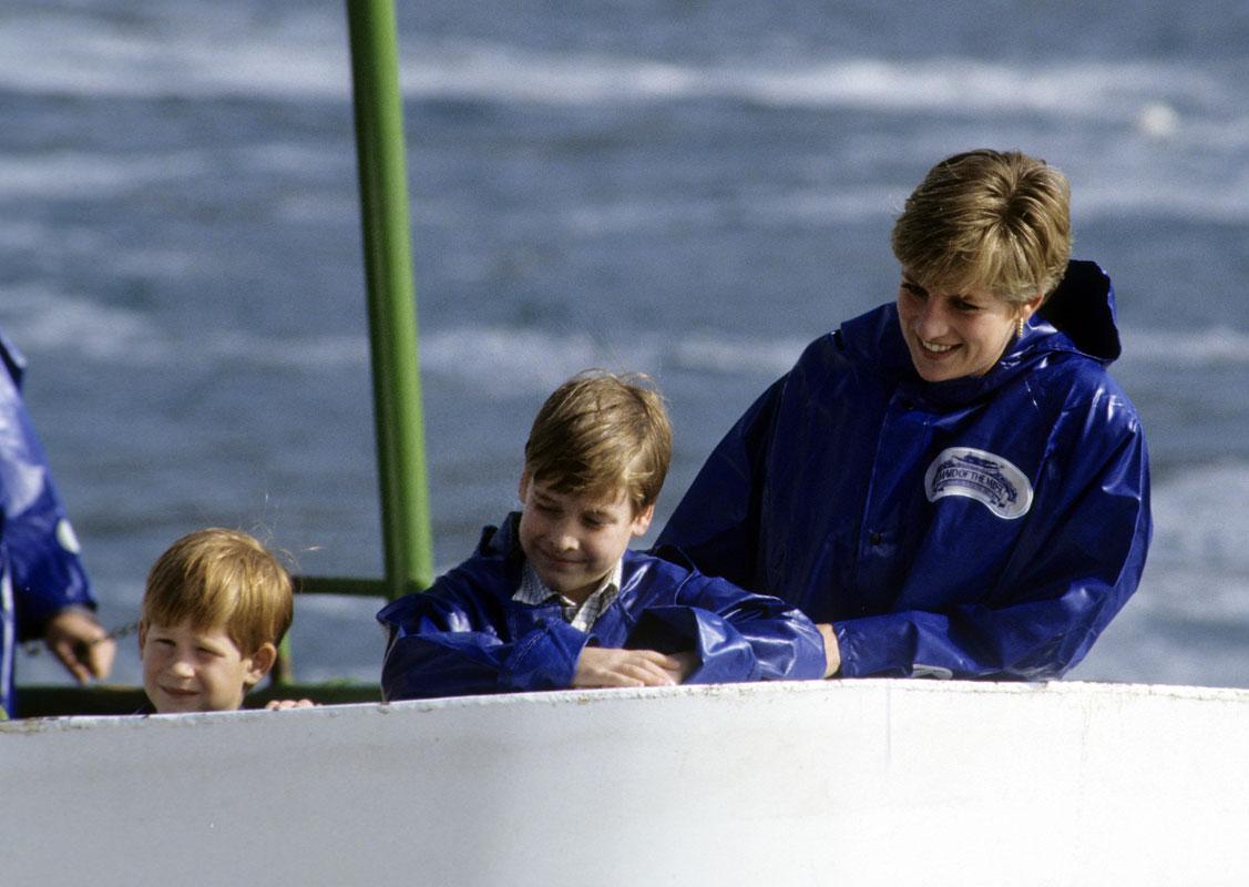 Princesa Diana, Príncipes Harry y William, fotos del recuerdo