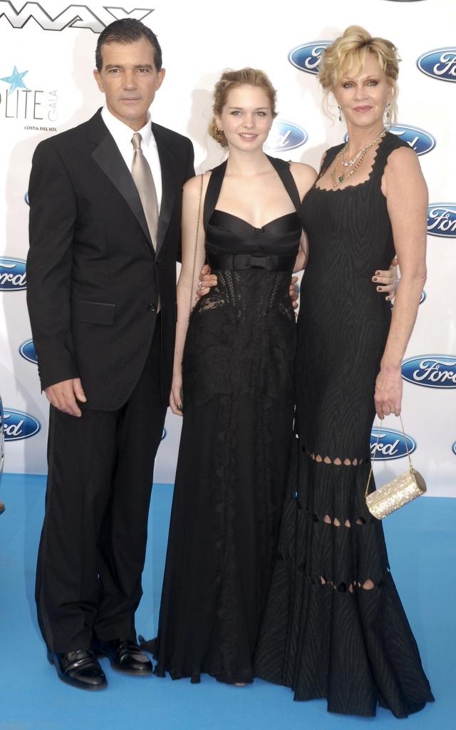 Melanie Griffith, Stella Banderas y Antonio Banderas