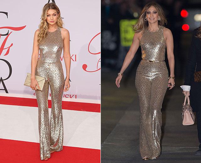 Dos mujeres un vestido, Gigi Hadid, Jennifer López