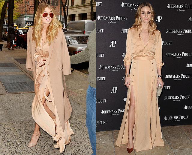 Dos mujeres un vestido, Gigi Hadid, Olivia Palermo