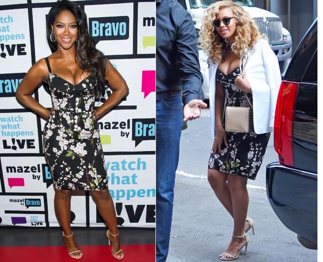 Dos mujeres, un vestido, Kenya Moore, Beyoncé
