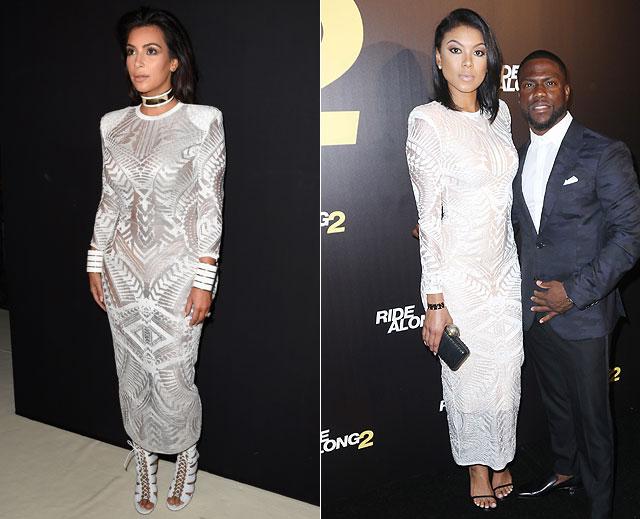 Dos mujeres un vestido, Eniko Parrish, Kim Kardashian