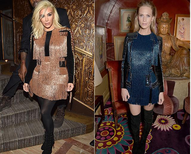 Dos mujeres, un vestido, Kim Kardashian, Poppy Delevingne