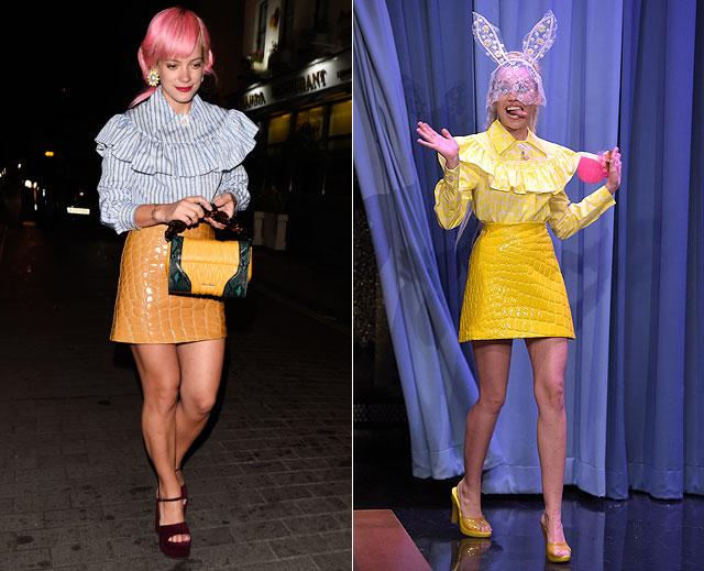 Dos mujeres, un vestido, Lily Allen, Miley Cyrus