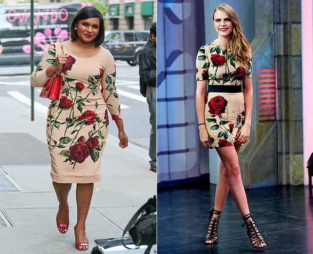 Dos mujeres, un vestido, Mindy Kaling, Cara Delevingne