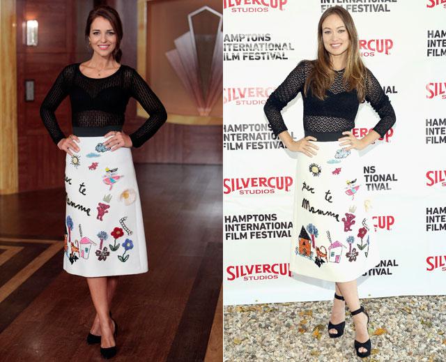 Dos mujeres un vestido, Paula Echevarría, Olivia Wilde