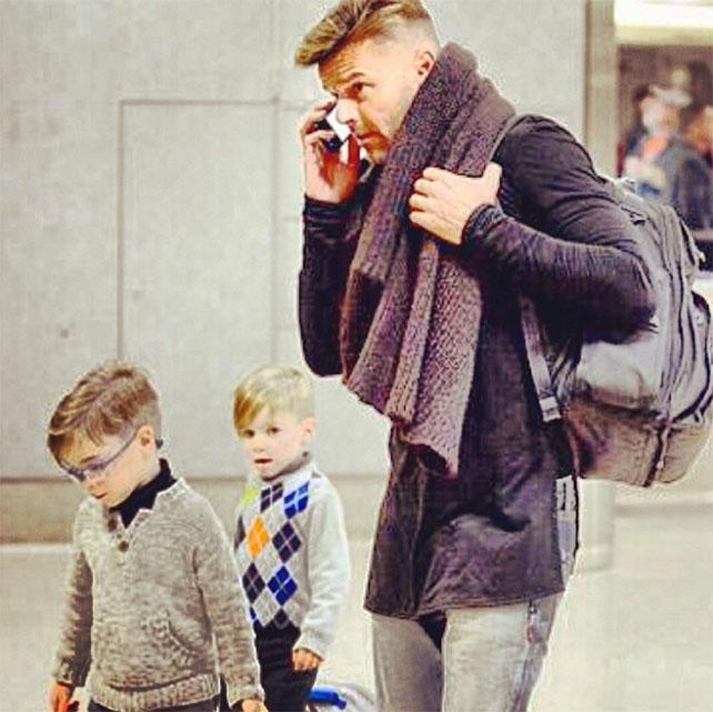 Ricky Martin, Matteo, Valentino, vida familiar