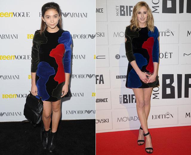 Dos mujeres un vestido, Rowan Blanchard, Laura Carmichael