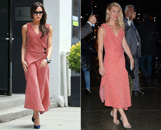 Dos mujeres un vestido, Victoria Beckham, Claire Danes