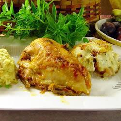 Pollo en salsa de chabacano