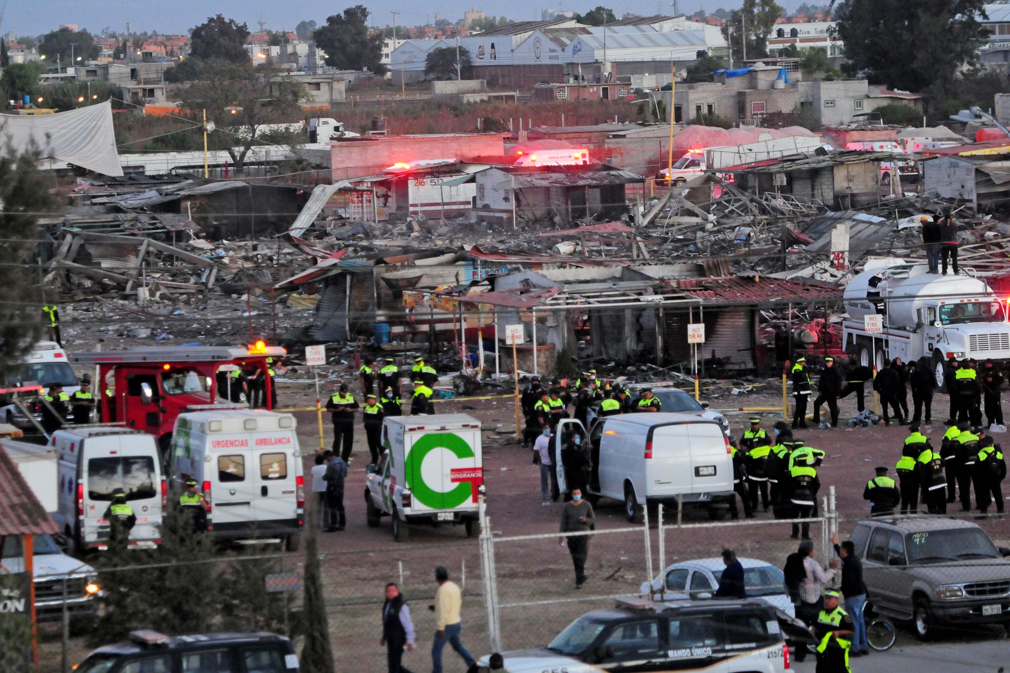 Explosión en el mercado de Pirotecnia de San Pablito