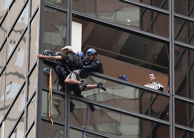 Trump Tower, climber