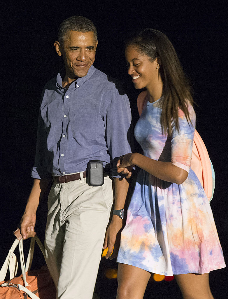 Barack Obama y su familia