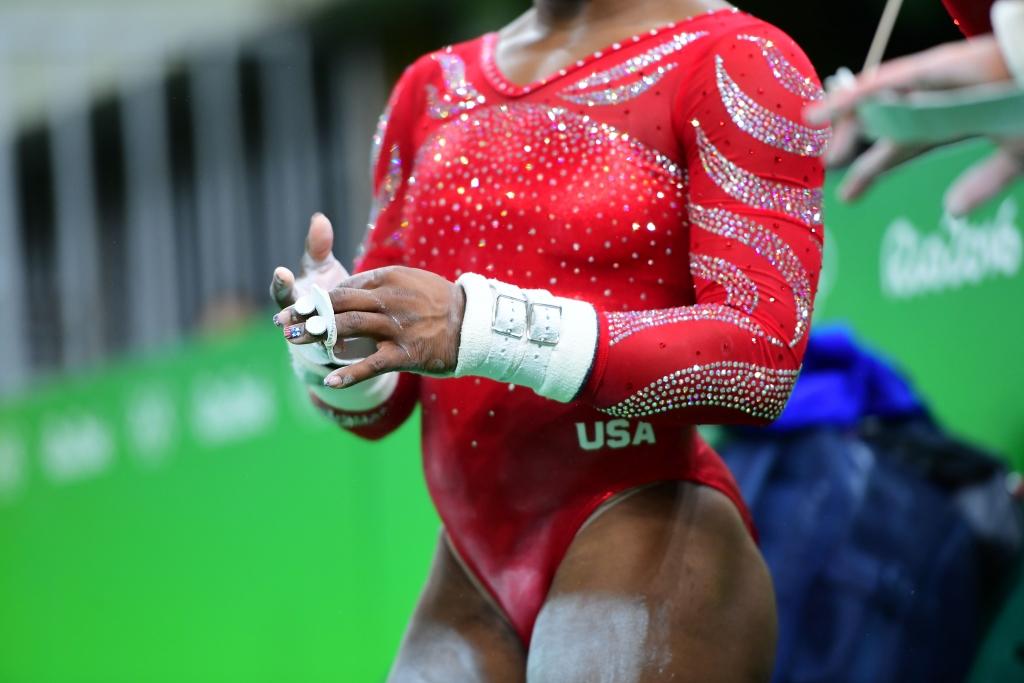 Uniforme de las gimnastas del equipo de EE.UU