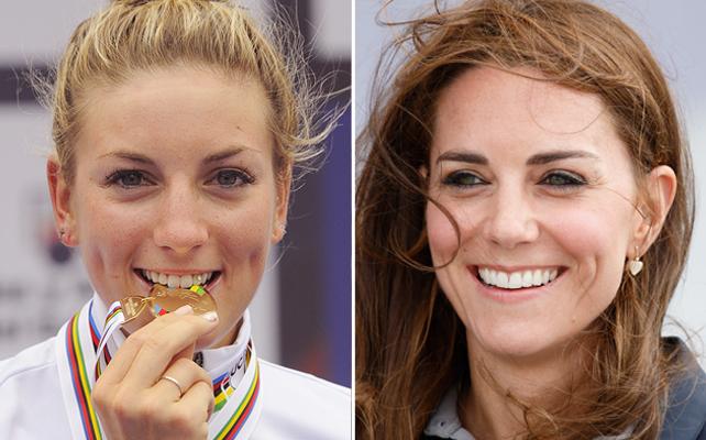 Pauline Ferrand Prevot y Kate Middleton