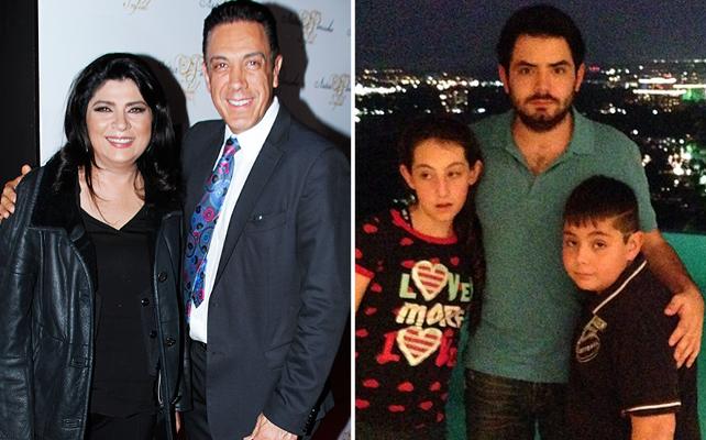 Victoria Ruffo, con su esposo Omar Fayad y su hijos José Eduardo, Anuar y Vicky