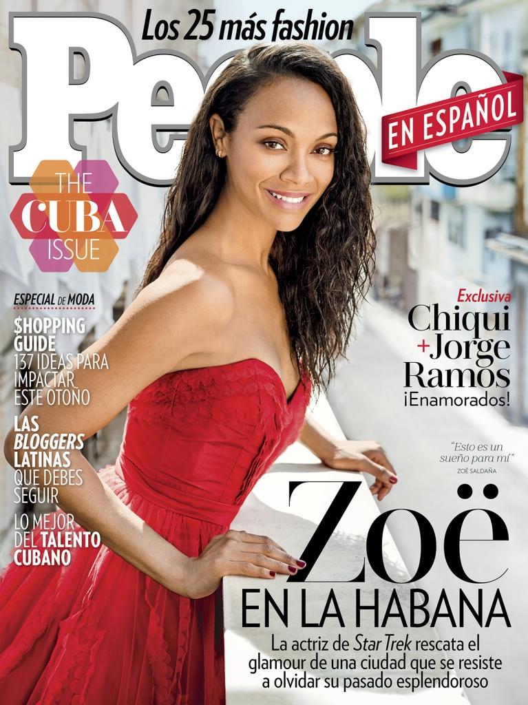 Zoe Saldaña en la portada de Septiembre 2016
