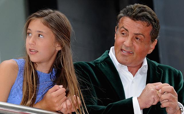 Sylvester Stallone y su hija Scarlet