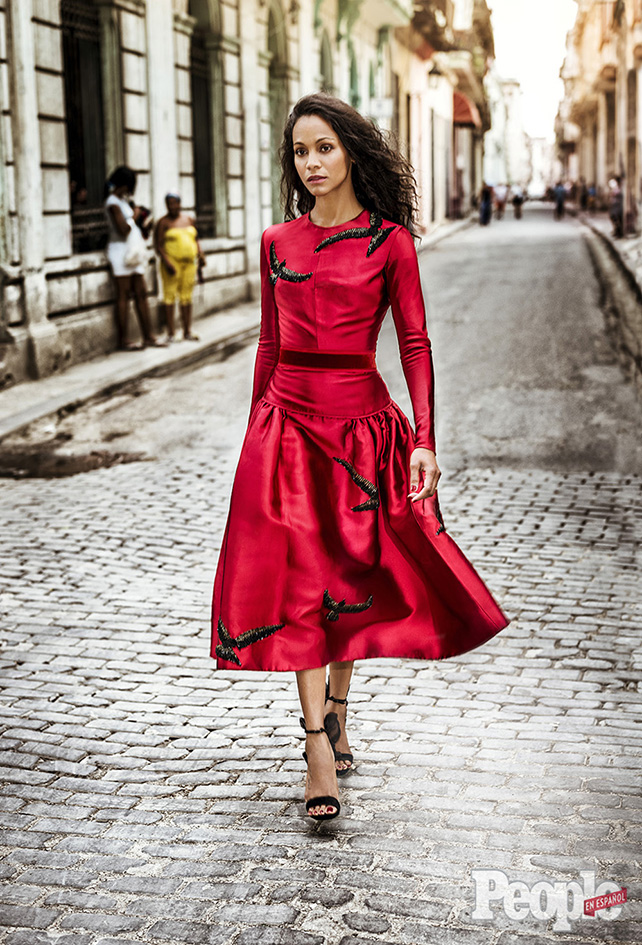 Zoe Saldaña en La Habana
