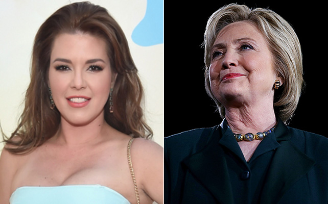 Alicia Machado y Hillary Clinton