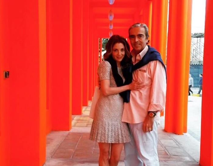 Edith González y su esposo
