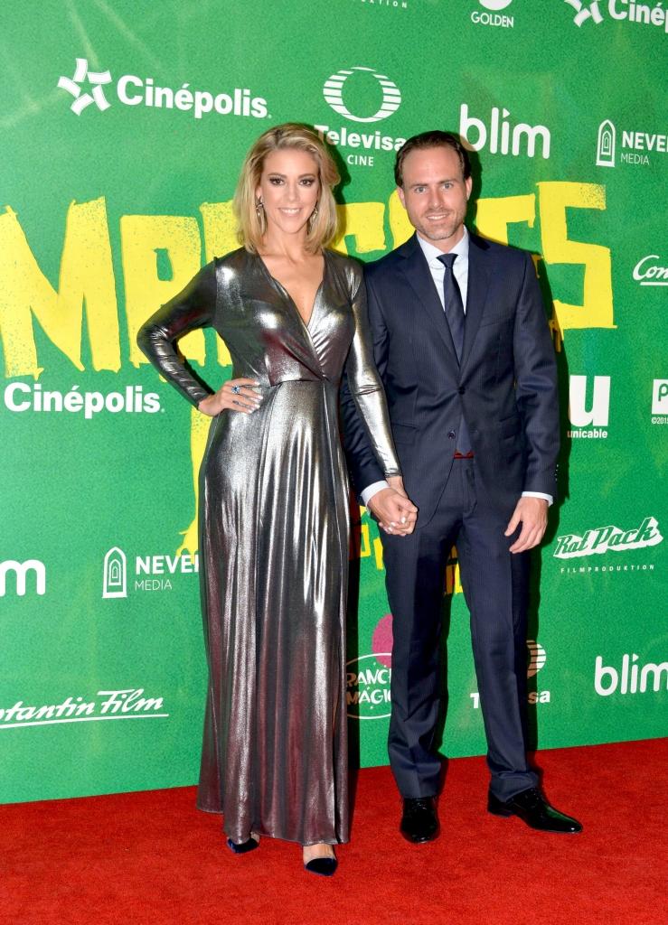 Fernanda Castillo y su novio Erik Hayser