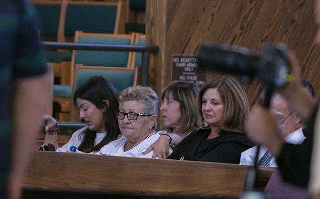 La abuela de Jose fernández en su funeral