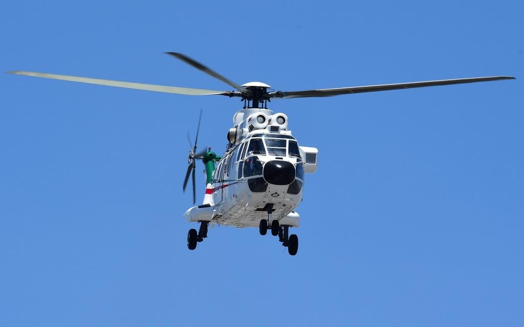 El helicóptero que supuestamente uso Donald Trump en México