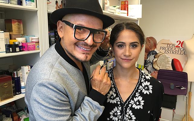 Luis Casco, maquillaje, pasarela