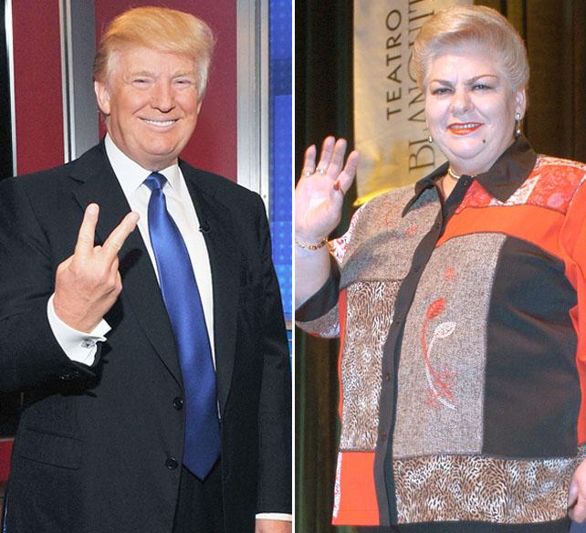 Donald Trump y Paquita La Del Barrio
