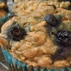 Muffins de avena y moras