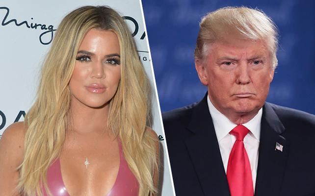 Khloe Kardashian y Donald Trump